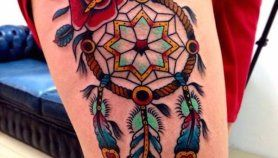 What Does A Dreamcatcher Tattoo Symbolize (2)