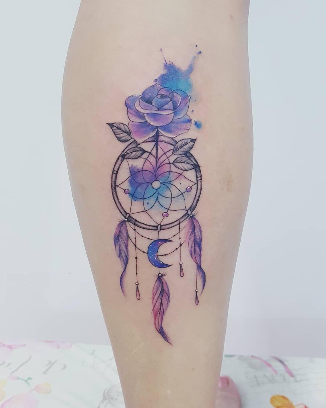 Wolf Dreamcatcher Tattoo (1)