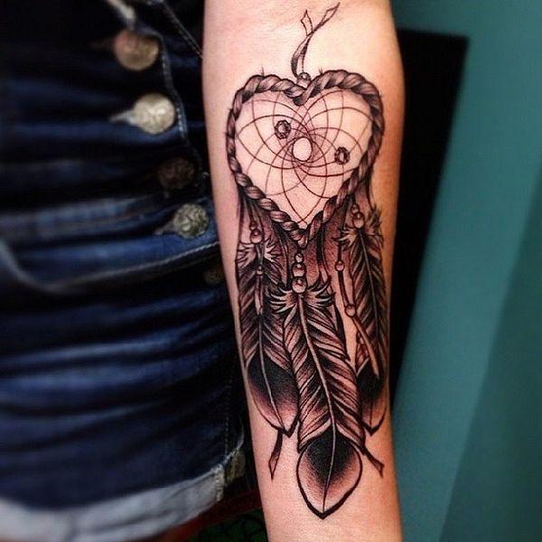 Wolf Dreamcatcher Tattoo (10)