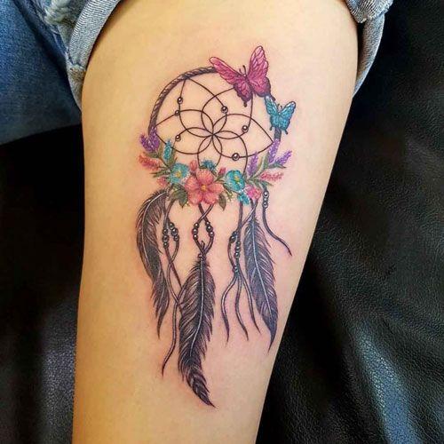 Wolf Dreamcatcher Tattoo (11)