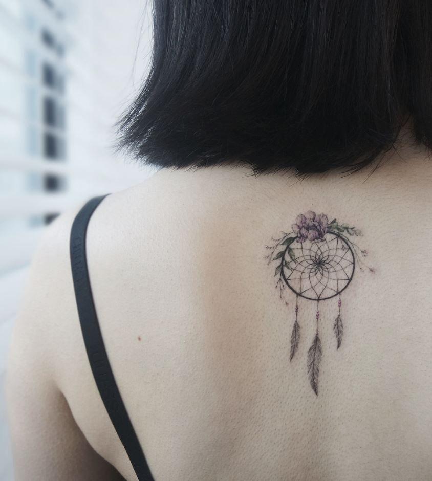 Wolf Dreamcatcher Tattoo (6)