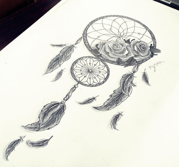 Wolf Dreamcatcher Tattoo (9)