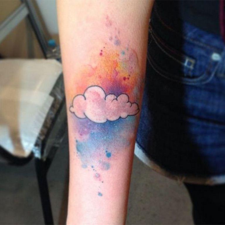 10 Rainbow Cloud Tattoo