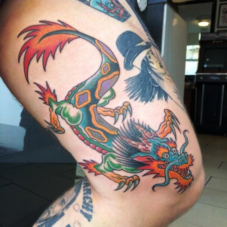 11 Rainbow Dragon Tattoo