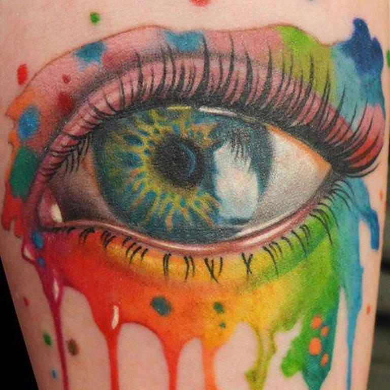 12 Rainbow Eye Tattoo