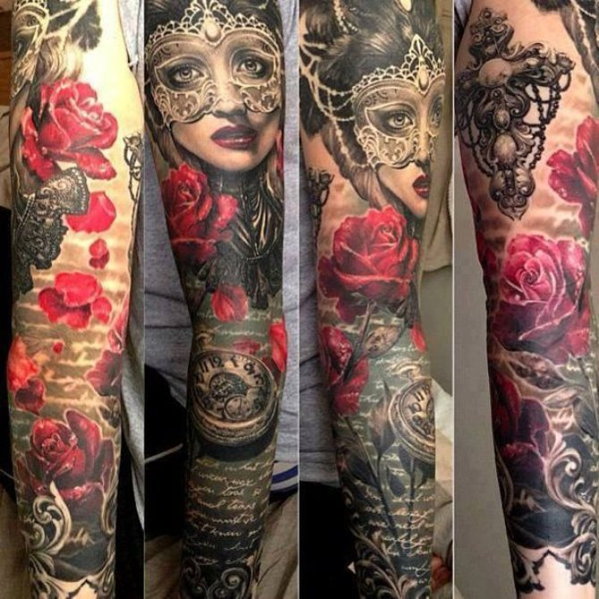 15 Japanese Full Sleeve Tattoo