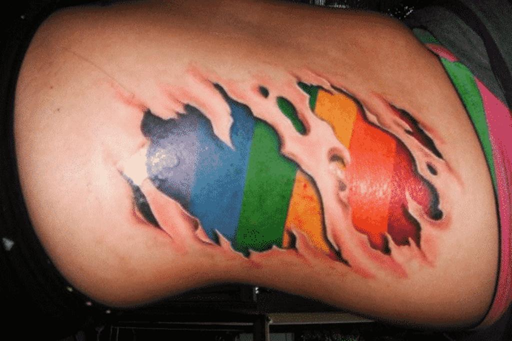 15 Rainbow Flag Tattoo