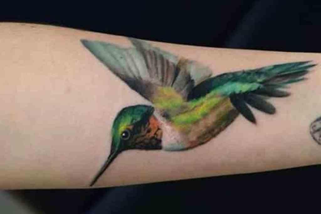 19 Rainbow Hummingbird Tattoo