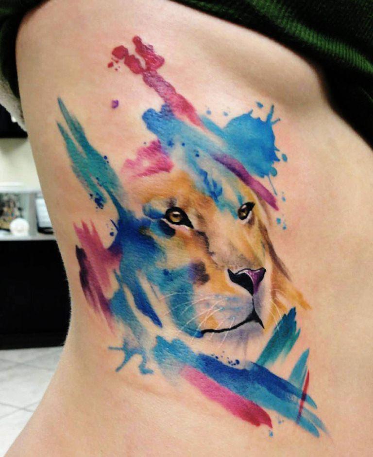 22 Rainbow Lion Tattoo