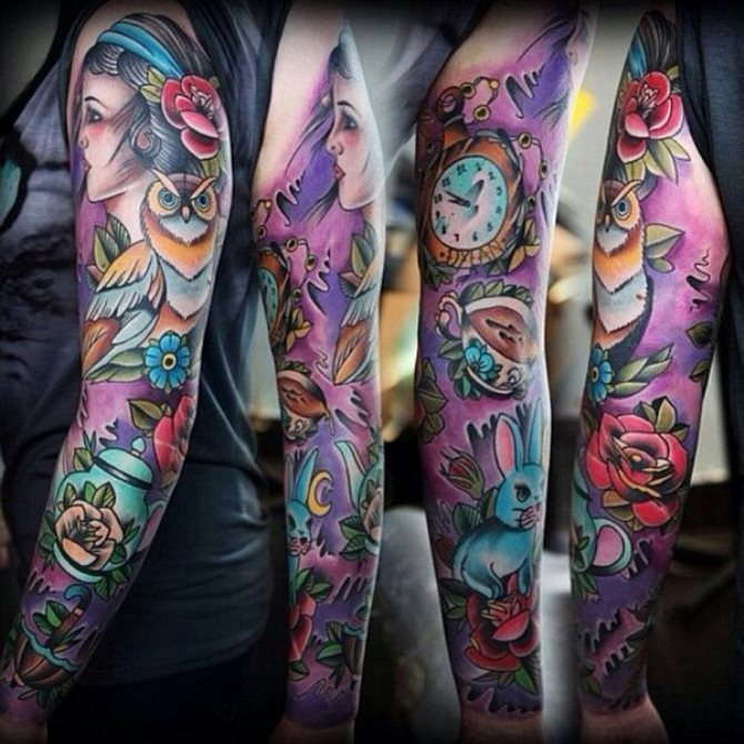 24 Japanese Sleeve Tattoo Design