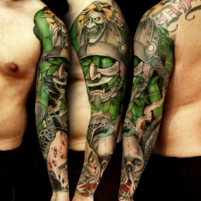 25 Japanese Sleeve Tattoo Designs