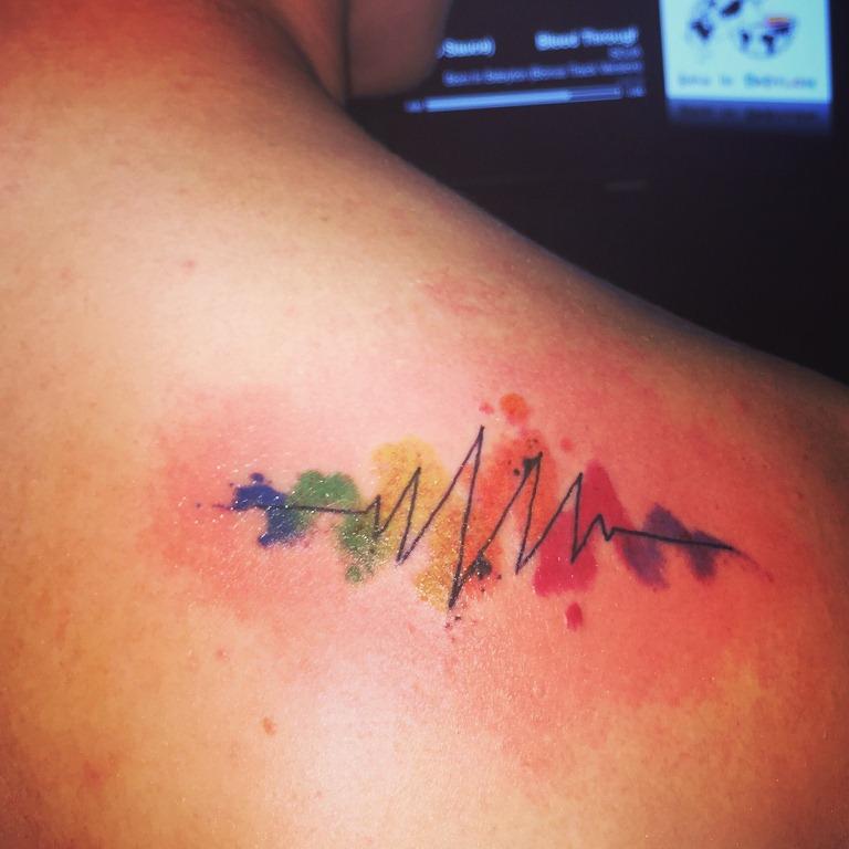 25 Rainbow Pulse Tattoo