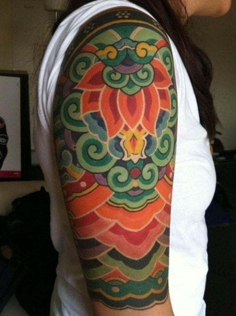 29 Rainbow Sleeve Tattoo