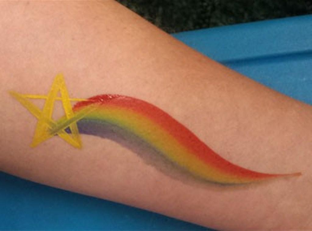 30 Rainbow Star Tattoo