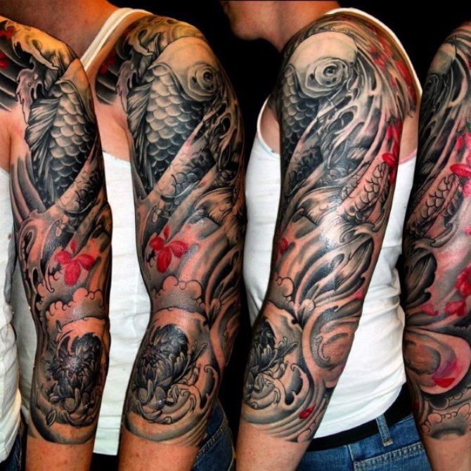 37 Japanese Tattoo Sleeve Designs