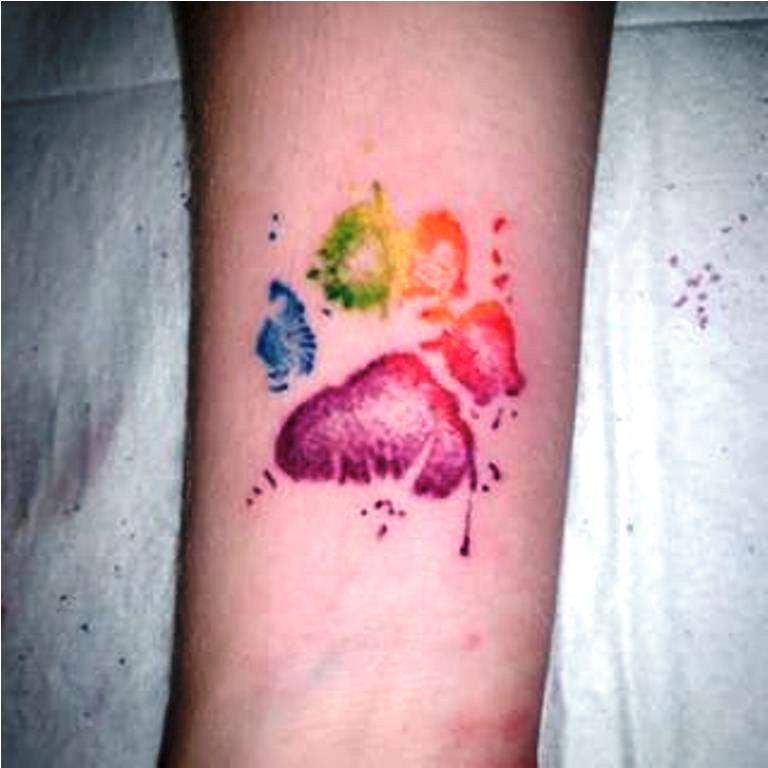 39 Rainbow Watercolour Tattoo
