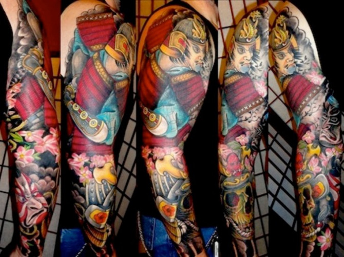 45 Japanese Traditional Tattoo Sleeve
