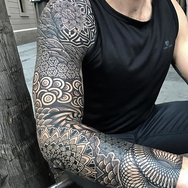 Japanese Chrysanthemum Tattoo Sleeve