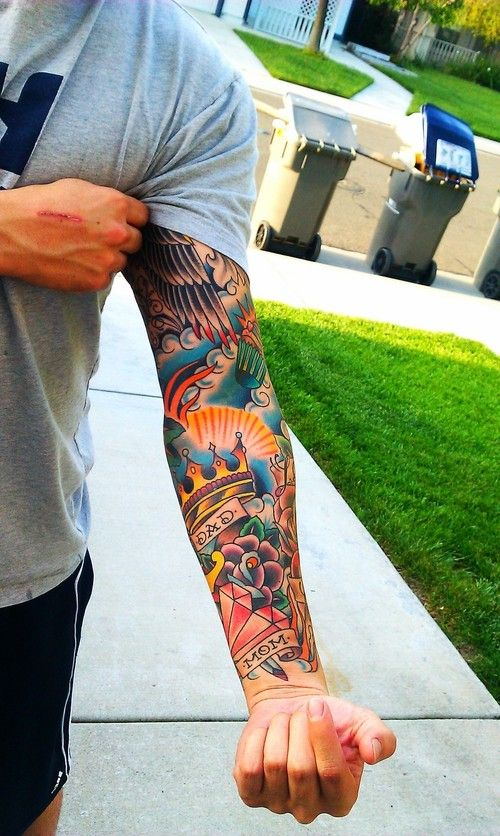 Traditional Japanese Tattoo Sleeve