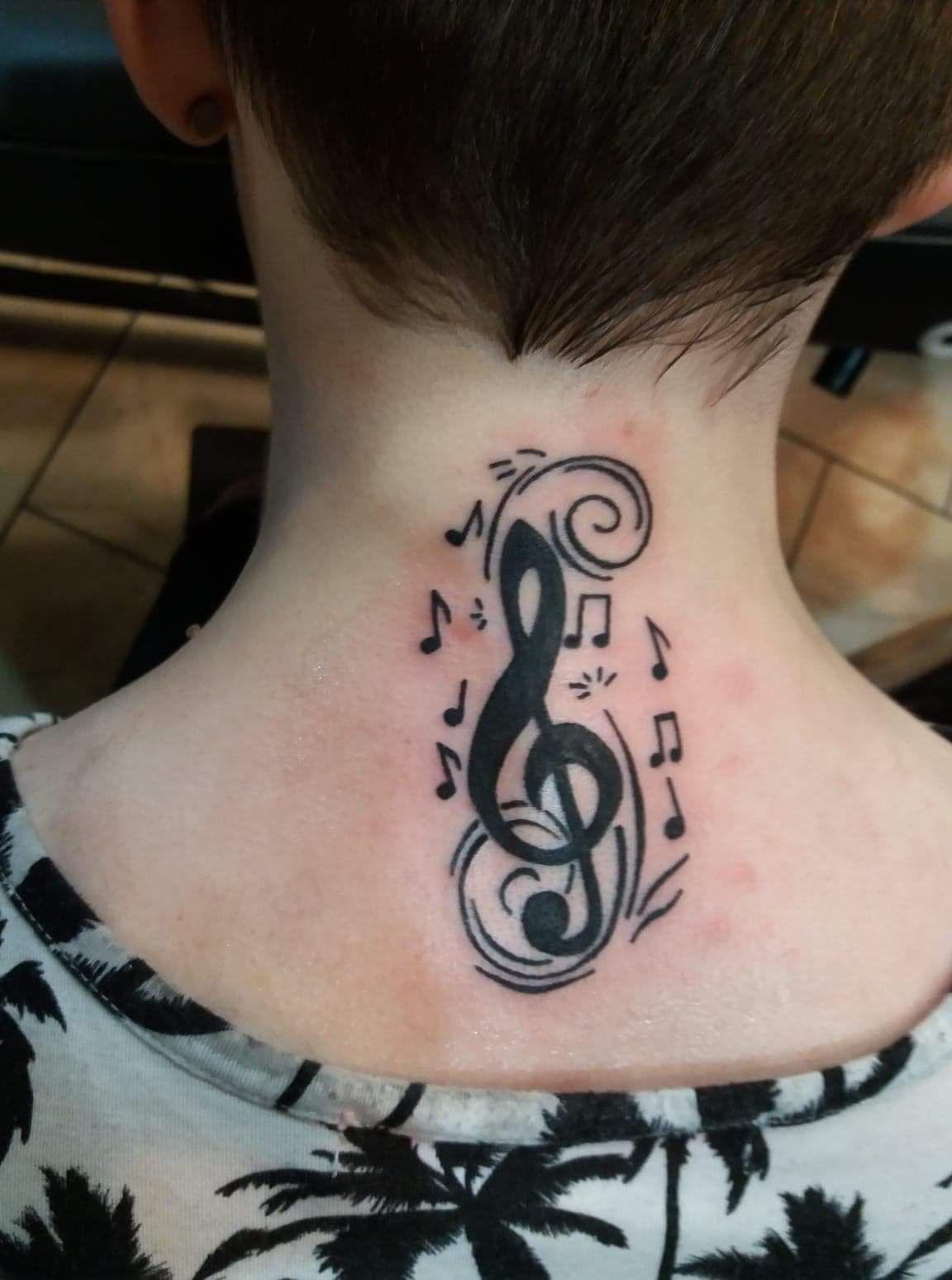 treble clef tattoo designs