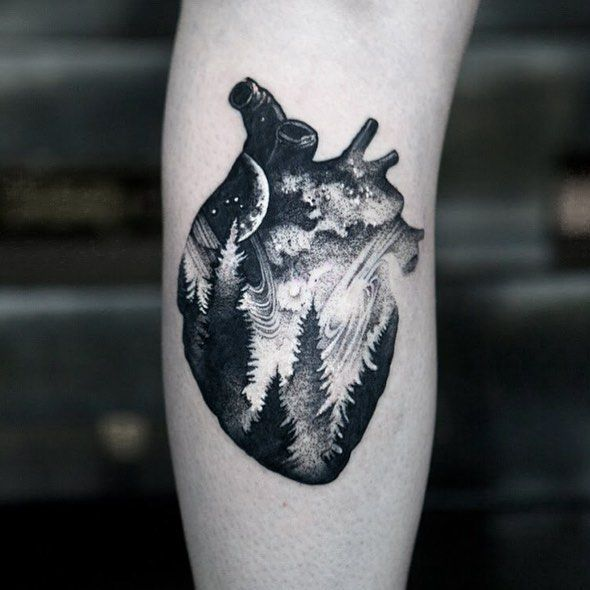120 Realistic Anatomical Heart Tattoo Designs For Men 2020 With Meanings