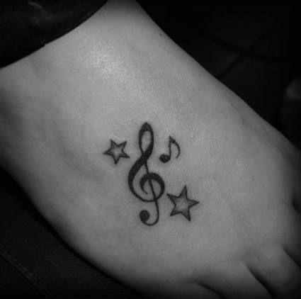 Bass Clef Tattoo (10)