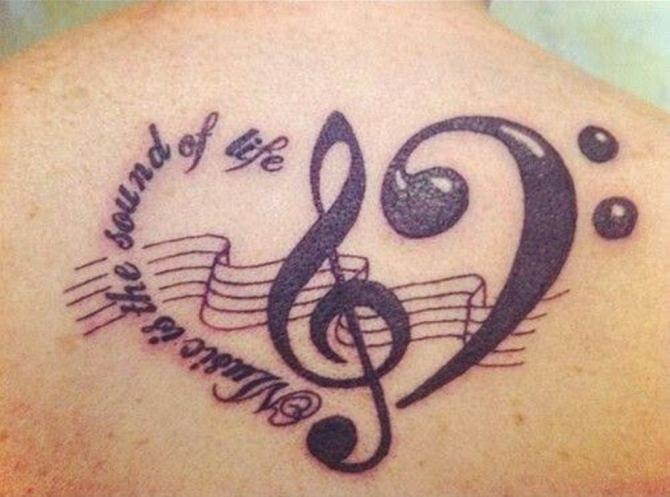 Bass Clef Tattoo (2)