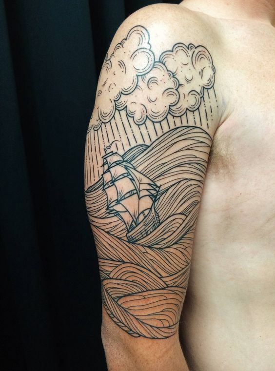 Cloud Tattoo Half Sleeve