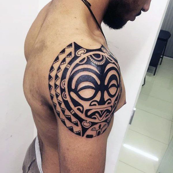 150 Best Shoulder Tattoos For Men 2020 Tribal Designs To Arm Chest Neck