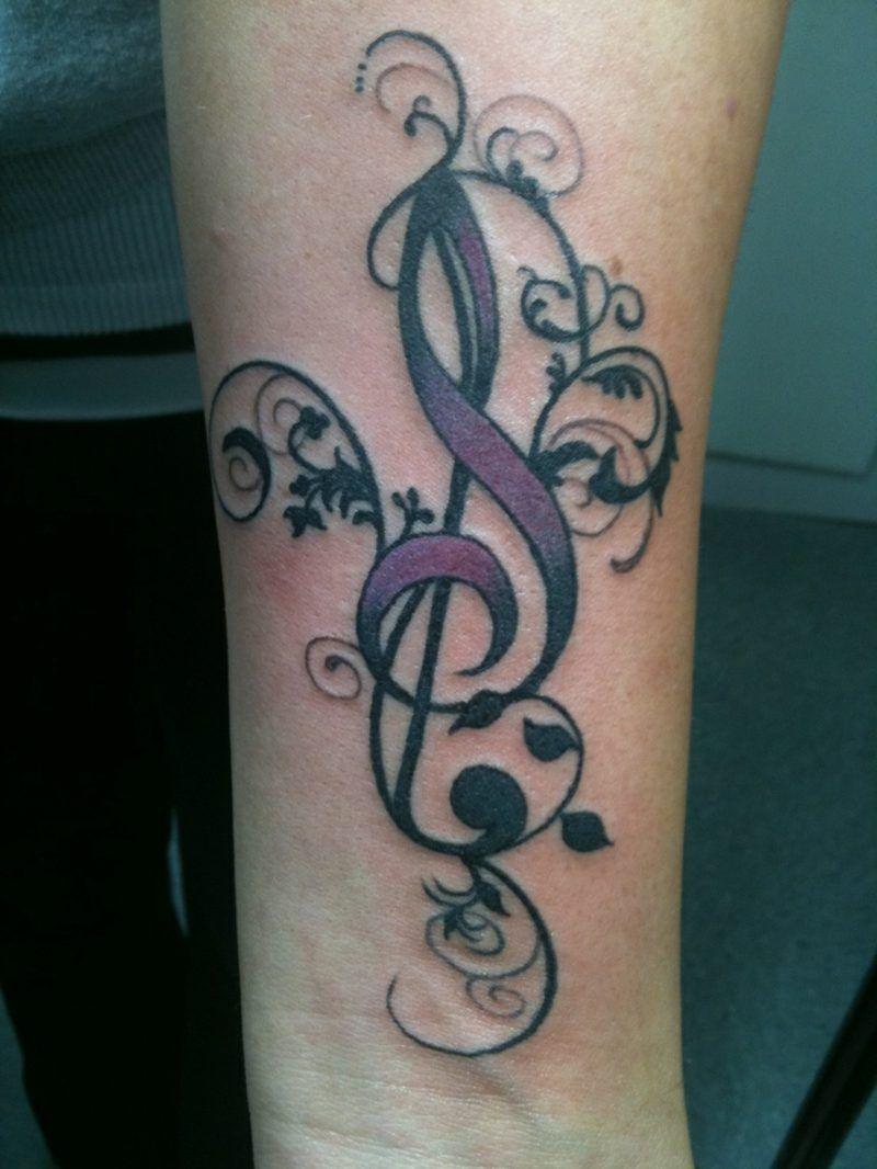 G Clef Tattoo (10)