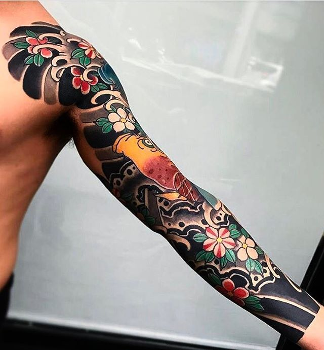 Half Sleeve Japanese Tattoo