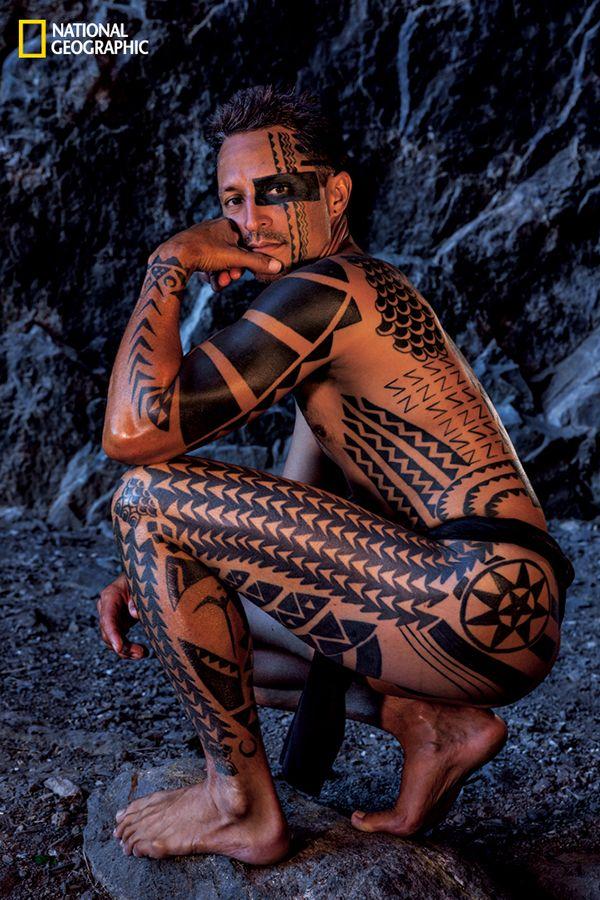 Hawaiian Warrior Helmet Tattoo (1)