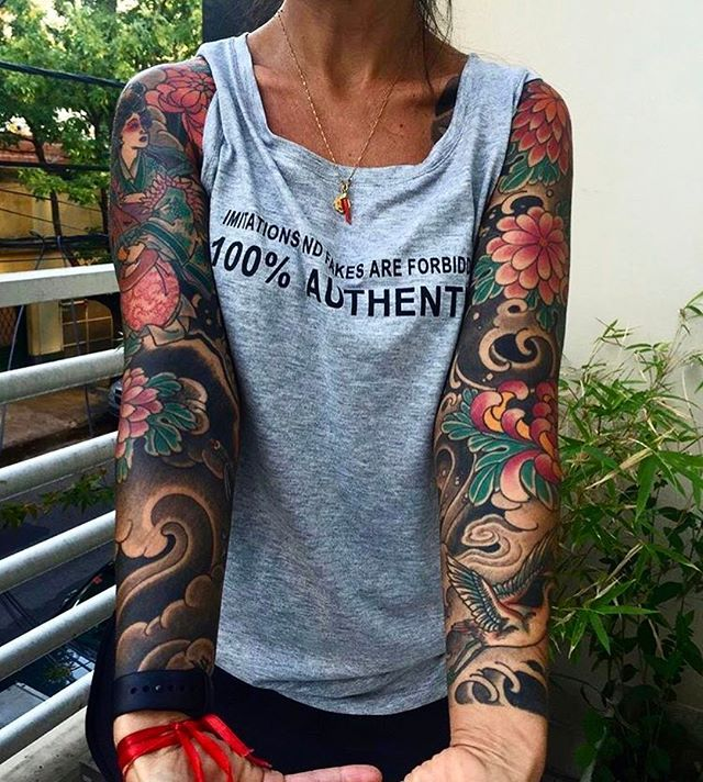 Japanese Arm Sleeve Tattoo