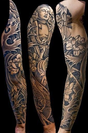 Japanese Dragon Sleeve Tattoo Designs