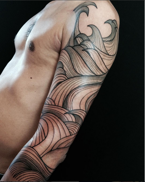 Japanese Half Sleeve Tattoos Black And Grey