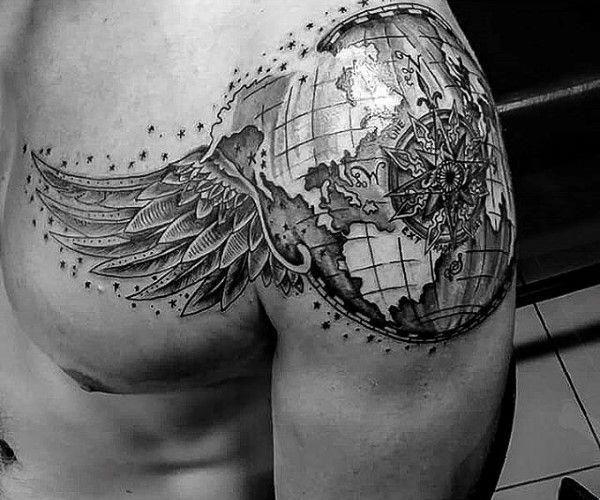 Men Shoulder Tattoos (7)