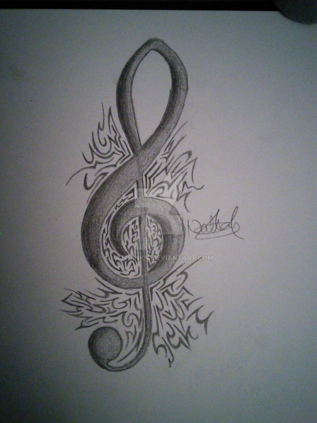 Music Note Tattoos Behind Ear Meaning (2)