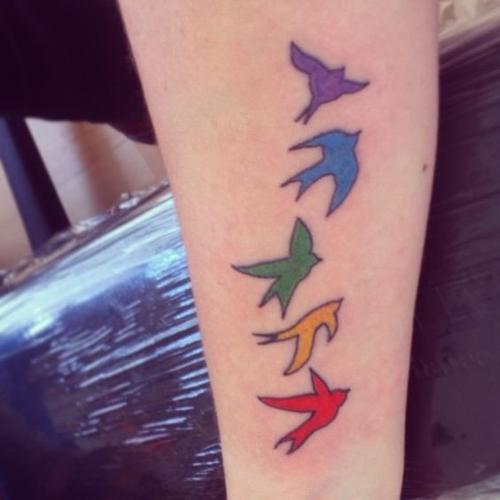 Rainbow Tattoo Designs (10)