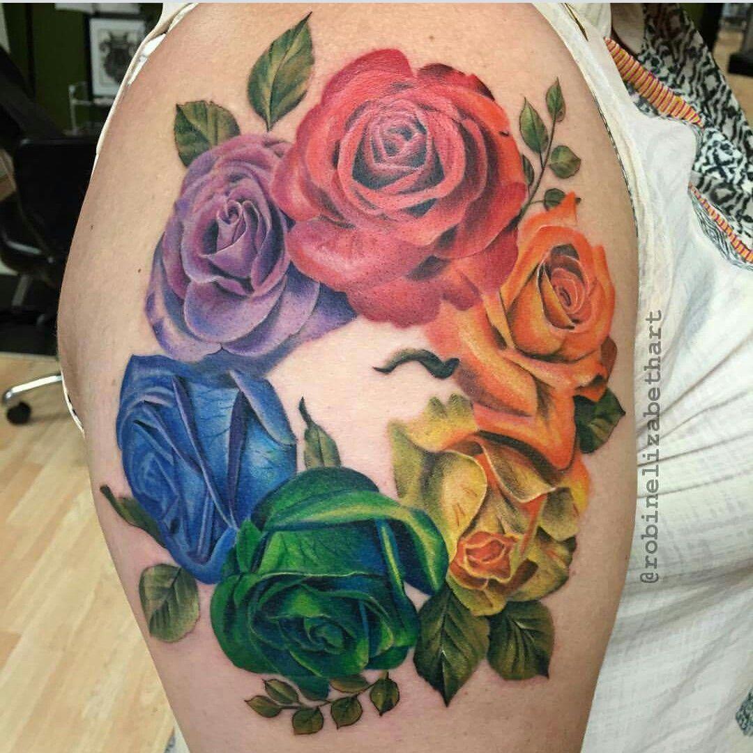 Rainbow Tattoo Designs (22)
