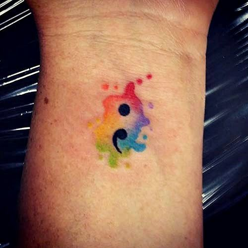 Rainbow Tattoo Designs (42)