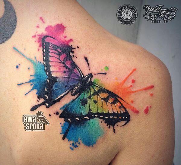 Rainbow Tattoo Designs (46)