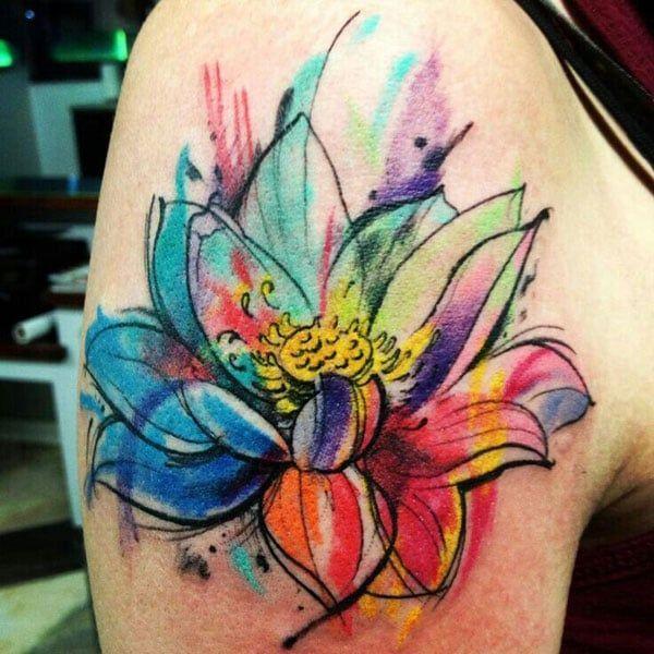 Rainbow Tattoo Designs (49)