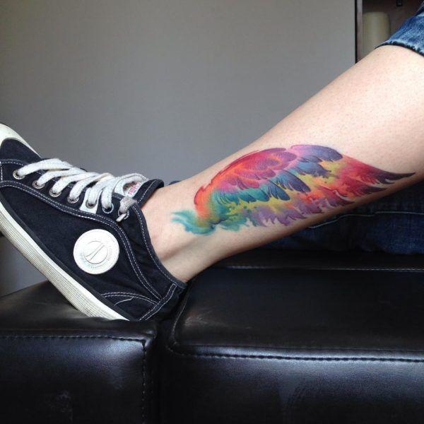 Rainbow Tattoo Designs (53)