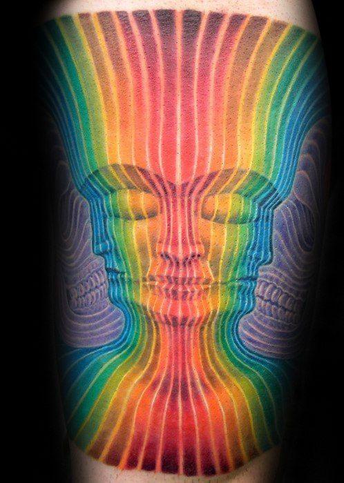 Rainbow Tattoo Designs (58)