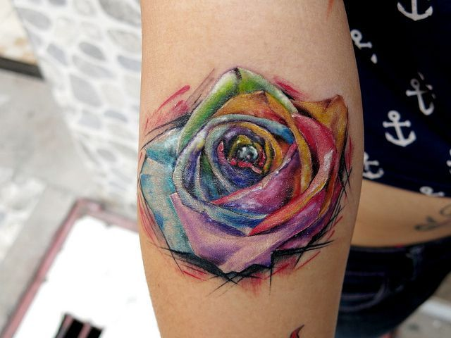 Rainbow Tattoo Designs (61)
