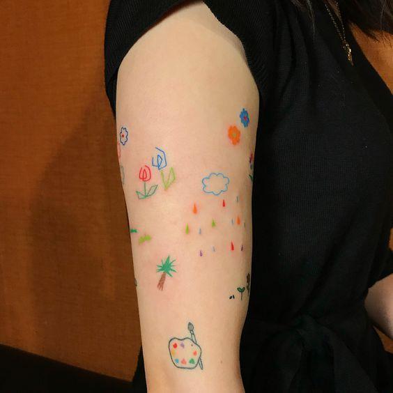Rainbow Tattoo Designs (64)