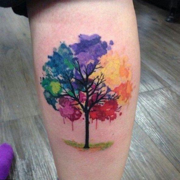 Rainbow Tattoo Designs (66)
