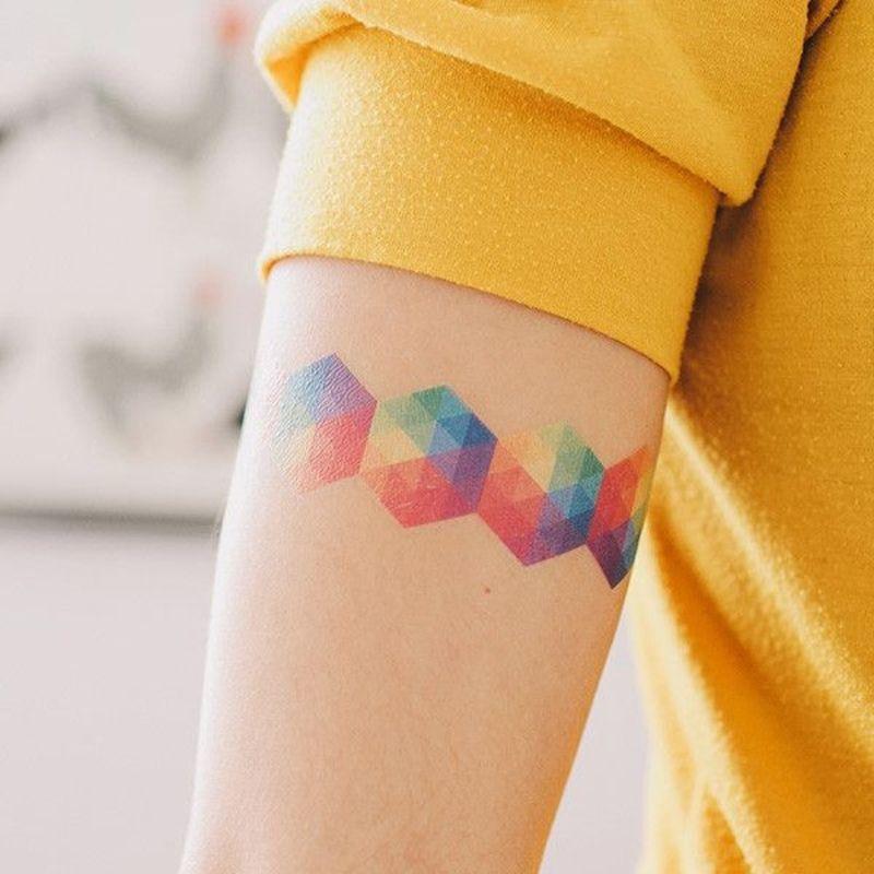Rainbow Tattoo Designs (73)