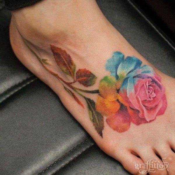 Rainbow Tattoo Designs (81)