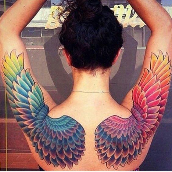 Rainbow Tattoo Designs (84)
